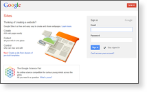 Google Inc - Site Screenshot