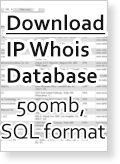 World IP Whois Full MySQL Database - November