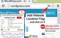 Google Chrome Browser Extension. Display a country flag indicating the physical location of the websites you are visiting. Check you are visiting Websites for Viruses/Malware. Hosting Company Owner Information